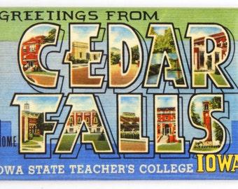 Greetings from Cedar Falls Iowa Fridge Magnet