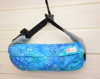 Baby Carrier Cover (Reversible) Sea Turtles in Turquoise Blue/Soliad Black (Terrapin in Turquoise) Tula/Ergo/Kinderpack/Lillebaby/Beco/Boba