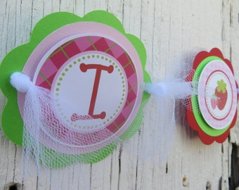 Strawberry Birthday Party, Chair Banner, Birthday Party, Several Options