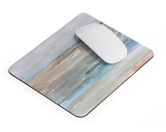 Watercolor Mousepad, Ocean mouse mat, painted mouse pad, unique office decor, Artistic gift, office desk accessory, abstract mouse pad
