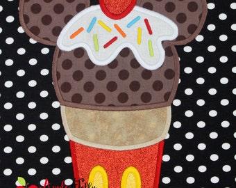 Ice Cream Mouse 1 Applique Design