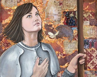 """Jeanne d'Arc Maid of Orleans - Reproduction Giclee on canvas 24"""" x 48"""""""