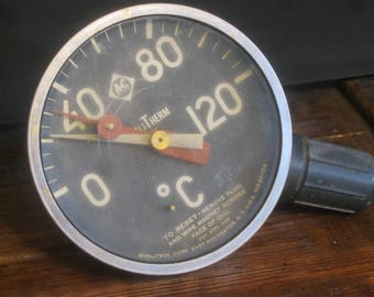 Vintage Gauge ,Water Temperature Gauge , Steampunk ,Steampunk Gauge ,