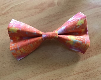 Blurred Orange Pet Bow Tie