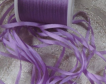 Silk ribbon 2mm in Lilac - 5 yards  J102