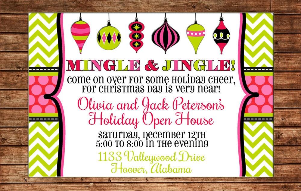 christmas open house invitation - Ideal.vistalist.co