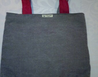 City tote bag grey and fuchsia way bag