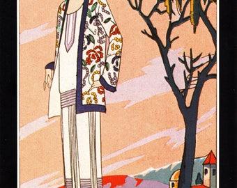 Authentic 1979 Vintage Art Deco Fashion Print 'Patou' Art, Gout, Beaute