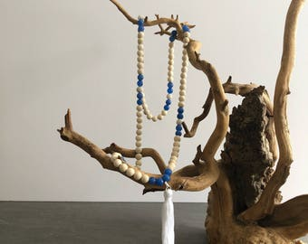 Riverstone & Agate Mala Necklace