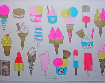 ice cream screen print - Hello Sunshine