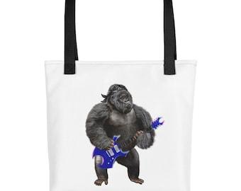 Guitarist Gorilla in Rock n Roll Band - Tote bag