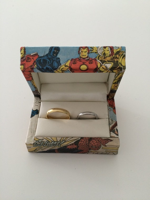 Double Wedding Ring Box Superheroes Double ring box
