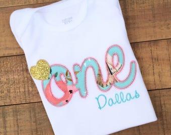 First Birthday Girl - Girls First Birthday Outfits - First Birthday Outfits - First Birthday Shirt - Pink and Gold First Birthday