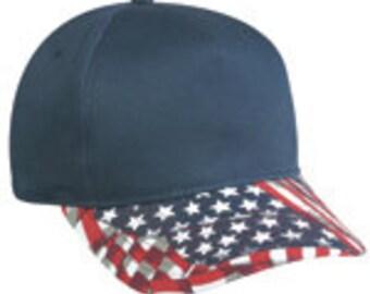 Patriotic Hat / Flag Hat / American Flag Hat / Flag Visor Hat / Blank Hat / Red Hat / Blue Hat