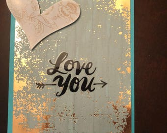 "A ""Love You"" (for her) Card"