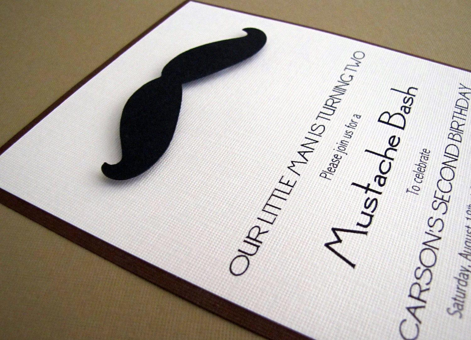 Mustache Party Invitations Moustache Invitation Little Man