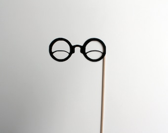 Best Photo Booth Props - Round Wink Glasses