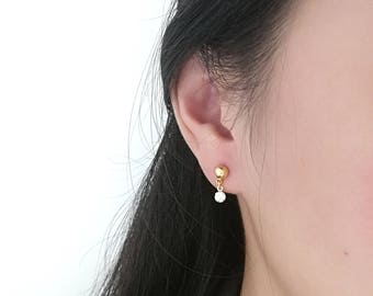 Crystal Studs, Gold Crystal Studs, Crystal Earring, Gold Crystal Earring, Tiny Crystal Earring, Crystal Dangle Earring, Crystal Drop Earring