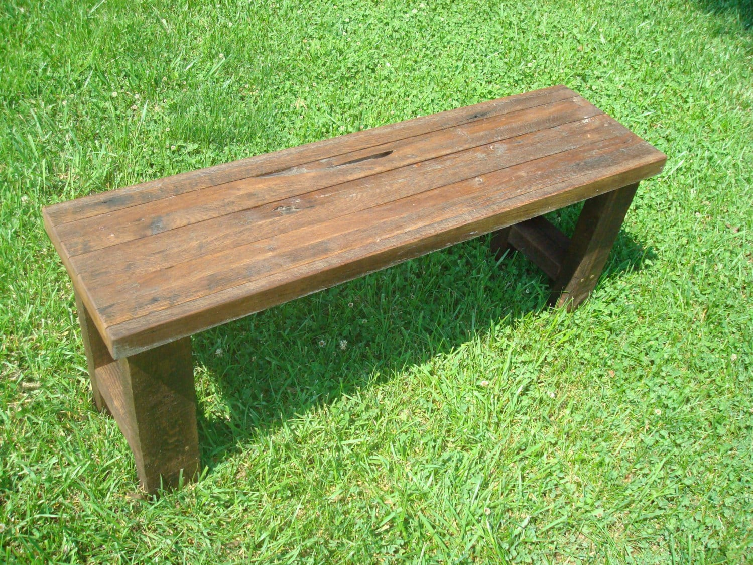 Bench Wood Bench Gnarly Bench Rustic Reclaimed Wood Bench Farmhouse Bench  Furniture Console Table Entryway Bench