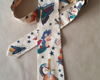 Sailor Jerry, handmade necktie