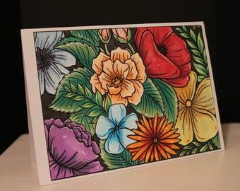 Floral Background Digital Stamp