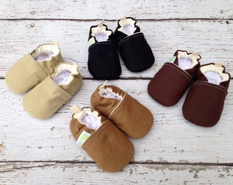 Simplified Hemp Premier Organic Vegan / All Fabric Soft Sole Baby Shoes / Made to Order / Babies