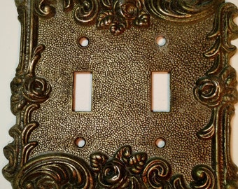 Brass double switchplate