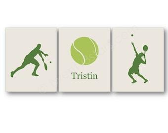 Tennis Art Prints, Tennis Player Gift, Boy's Tennis Art, Personalized Tennis Gift, Men's Tennis Wall Art, Tennis Canvas, Tennis Coach Gift