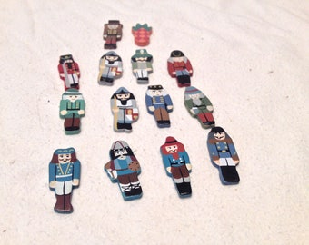 14 Different Wooden Figures Painted Taiwan Crafts