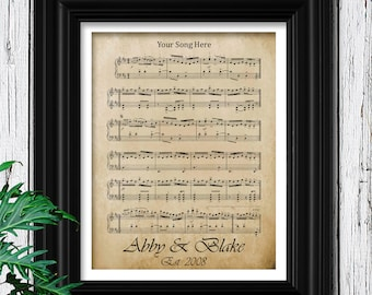 Unique Gift for Wife | Your Wedding Song on Velvet Paper| Personalized Gift for Wife | Gift for her | Wife Anniversary Gift | Unique for Her