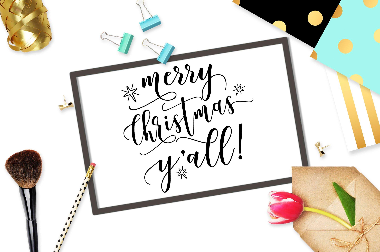 Merry Christmas Yall svg cut file Cricut svg design Digital