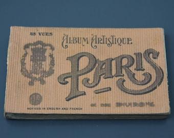 ancient artistic album cards postcards Paris 48 views 30s