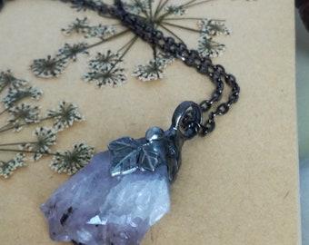 raw, Amethyst Necklace, Raw amethyst necklace quartz necklace rough amethyst Druzy necklace for her raw Crystal necklace Gemstone necklace
