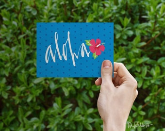 Aloha By Air greeting card