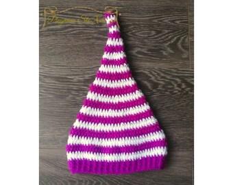 elf hat, crochet Ηandmade Hat, crochet hat elf, elf hat adult, elf hat baby, winter hat, newborn hat, baby hat, gift for girl, girls hats