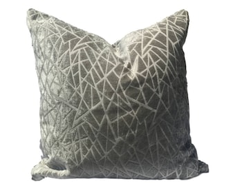20in or 18in Pillow Cover, Decorative Pillow Cover, gray Pillow, Throw Pillow, Accent Pillow, Cushion Cover