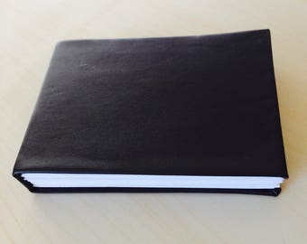"7 x 5.5"" Blank Pleather Journal"