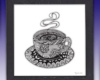 Tea cup, Coffee Cup, Art Print