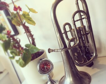 "Antique tuba tenorhorn or Baritone Saxhorn ?The bell reads ""Maison 1812 Coutirier , Pelisson Guinot Blanchon & Cie, Lyon-Paris."