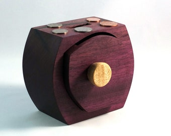 Solid Wood Money Box