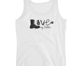 Love My Soldier Ladies' Tank