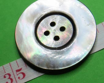 3.5 cm grey shell button - #5604_35