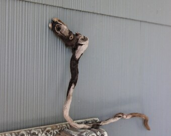 Snake Driftwood Sculpture , One of a Kind Drift Wood Art , Natural wood piece