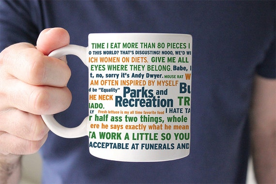 Coffee Mug Parks and Recreation Funny Quotes Coffee Cup