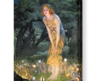 """Edward Hughes """"Midsummers Eve"""" Canvas Box Art A4, A3, A2, A1 ++"""