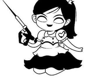Memorial Day Sale! Bioshock Little Sister Animated Style Vinyl Decal for Home or Car