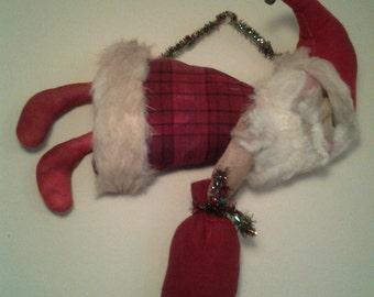 Primitive Flying Santa Cloth Doll Traditional