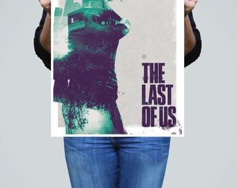 The Last of Us 'Ellie' Inspired Minimalist Poster - Double-Exposure Poster - Video Game Poster, Minimalist Art Print, Games Room Poster
