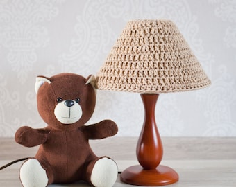 Сrochet lamp Knit cozy Lamp shade. Knitted Lamp shade. Beige Lamp shade. Lamp shade Décor