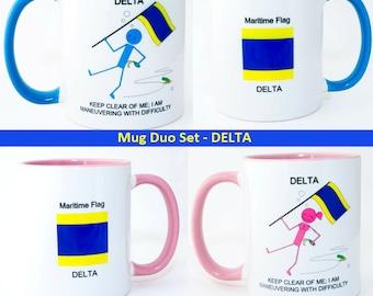 Mixed Signals Mugs - DELTA Duo Set
